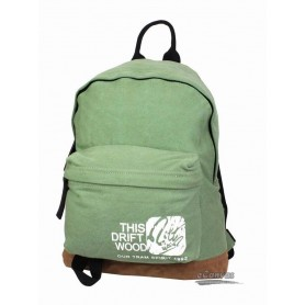 green Canvas college backpack