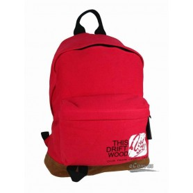 red Canvas college backpack
