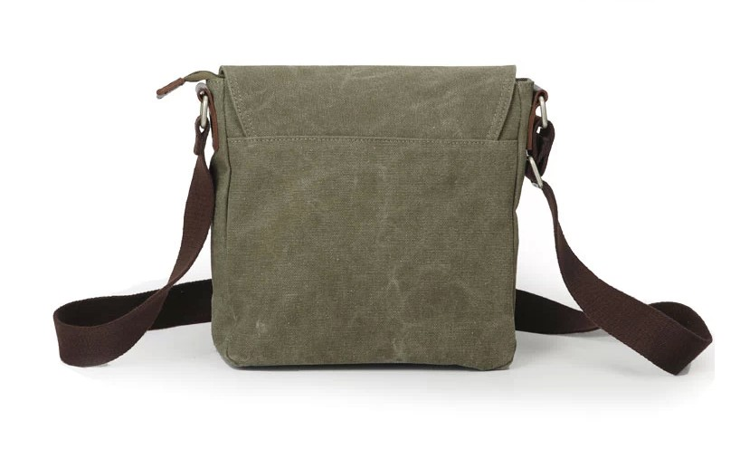 Canvas Vertical Messenger Bag