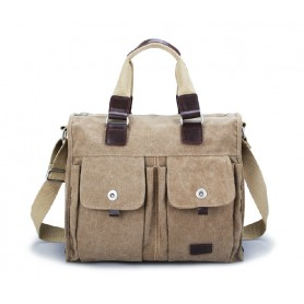 Big messenger bag, mens canvas satchel