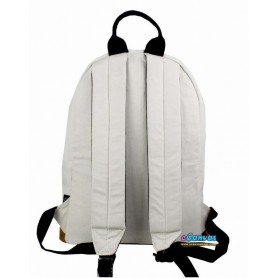 white Canvas college backpack