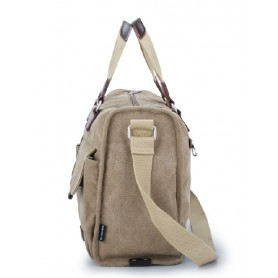 khaki Big messenger bag