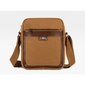 Canvas messenger bag men, over the shoulder bag