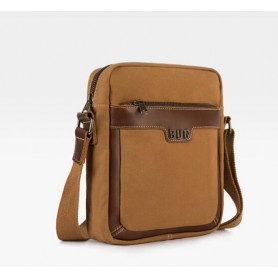 khaki Canvas messenger bag men