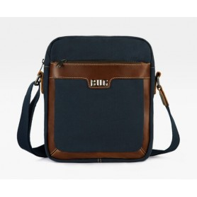 blue Canvas messenger bag men