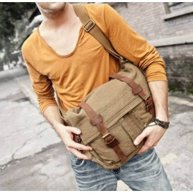 army green Large messenger bags for men