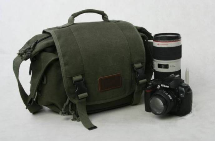 ... waterproof shockproof  army green canvas SLR camera bag 246c1fda35dc6