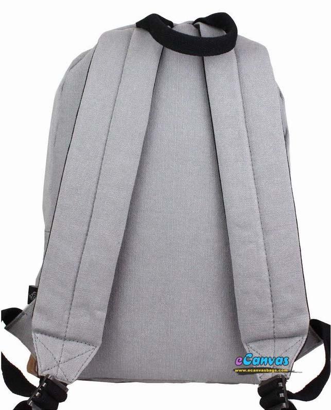 e1f832bf8e79 ... grey Canvas college backpack ...