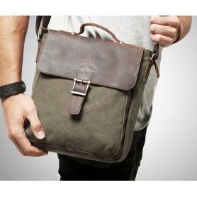 army green Men's Simple Messenger Bag