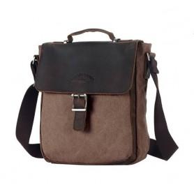 coffee Retro Shoulder Bag For Men