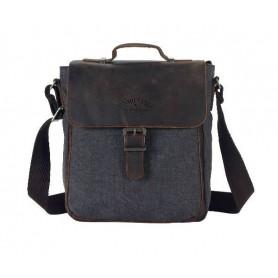 black Retro Shoulder Bag For Men