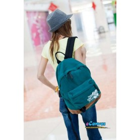 Canvas college backpack for women