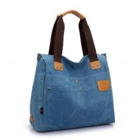 blue Canvas handbag