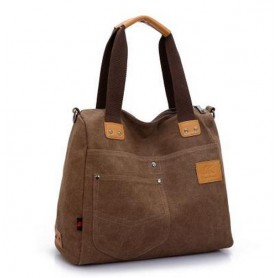coffee Canvas handbag