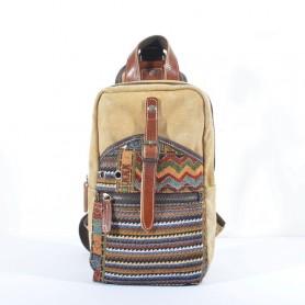Khaki Leisure canvas chest bags