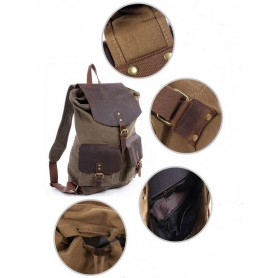 Three Magnetic button pockets canvas bag