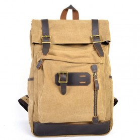 Canvas journey Backpack, Genuine Leather Backpacks