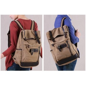 khaki Canvas journey Backpack