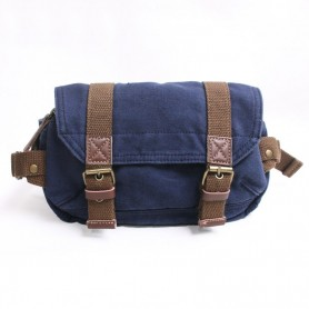 blue Canvas fanny pack