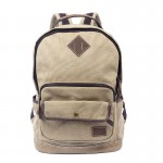 khaki Teenagers Canvas Rucksack