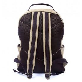 khaki Stylish Canvas Backpacks For School