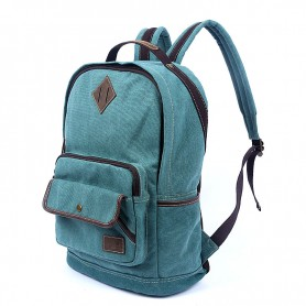 blue Stylish Canvas Backpacks For School