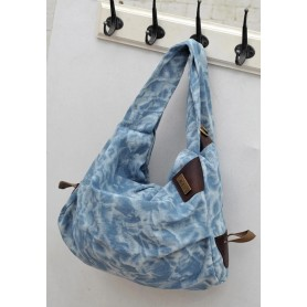 blue hobo messenger bag