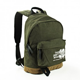 army green Canvas college backpack
