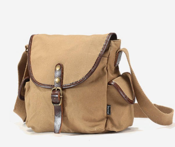 Rugged Canvas Ipad Bags Classical Crossbody