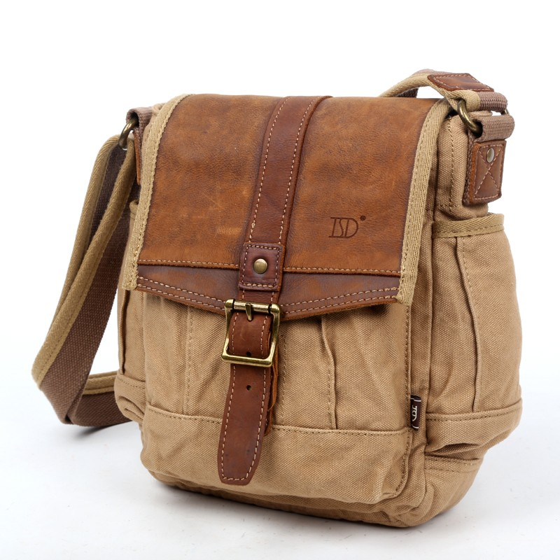 Vintage canvas satchel, leisure quality bags - E-CanvasBags