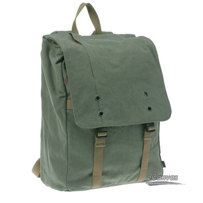 Unisex netbook backpack, best rucksack, 15 inches army green ...