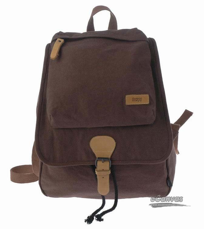 efc20791c9 coffee School drawstring backpack  black canvas ...