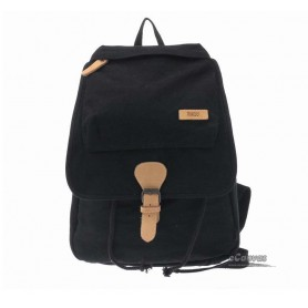 black canvas travel backpack