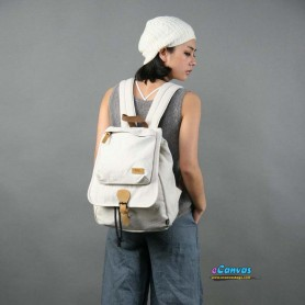 white drawstring backpack for women