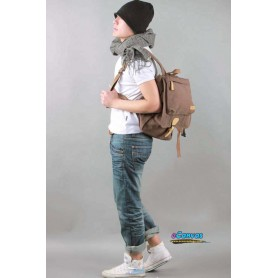coffee canvas travel backpack for men