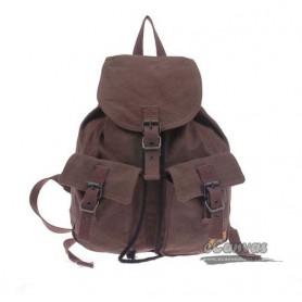 Bike backpack, canvas backpack for school, black & white