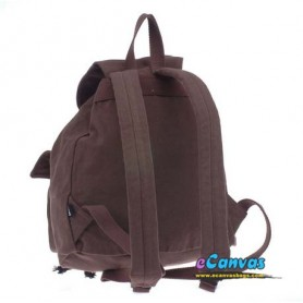 coffee canvas backpack for school
