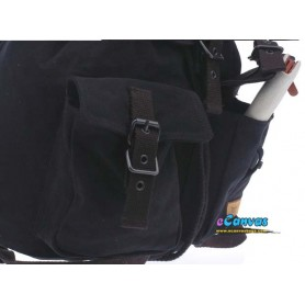 black canvas backpack for school