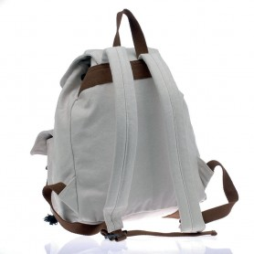 white canvas backpack for school
