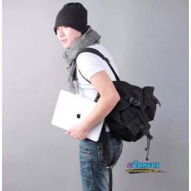 black canvas backpack for men