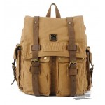 Laptop backpack 14 inches, yellow traveling bag for men