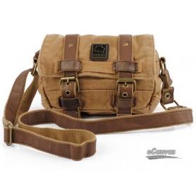 Mini retro messenger bag, yellow fanny pack for men