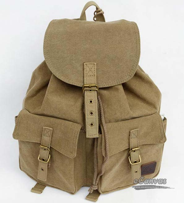 Khaki school bag