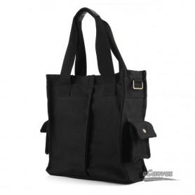 black Leisure canvas purses