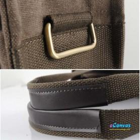 Simple canvas handbag