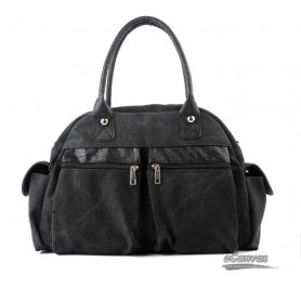 discount black canvas bags