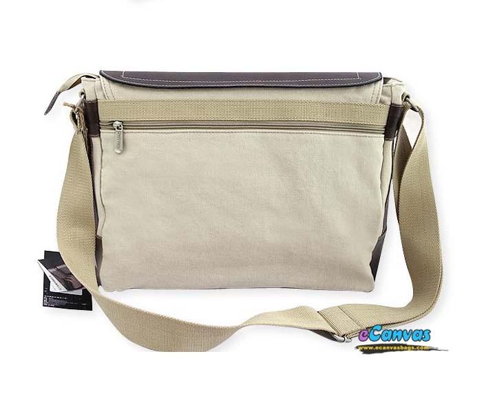 Beige Canvas Pu Bag Canvas Portfolio Bag For Men E