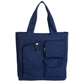 High-capacity bag, simple female canvas purse, 4 colors
