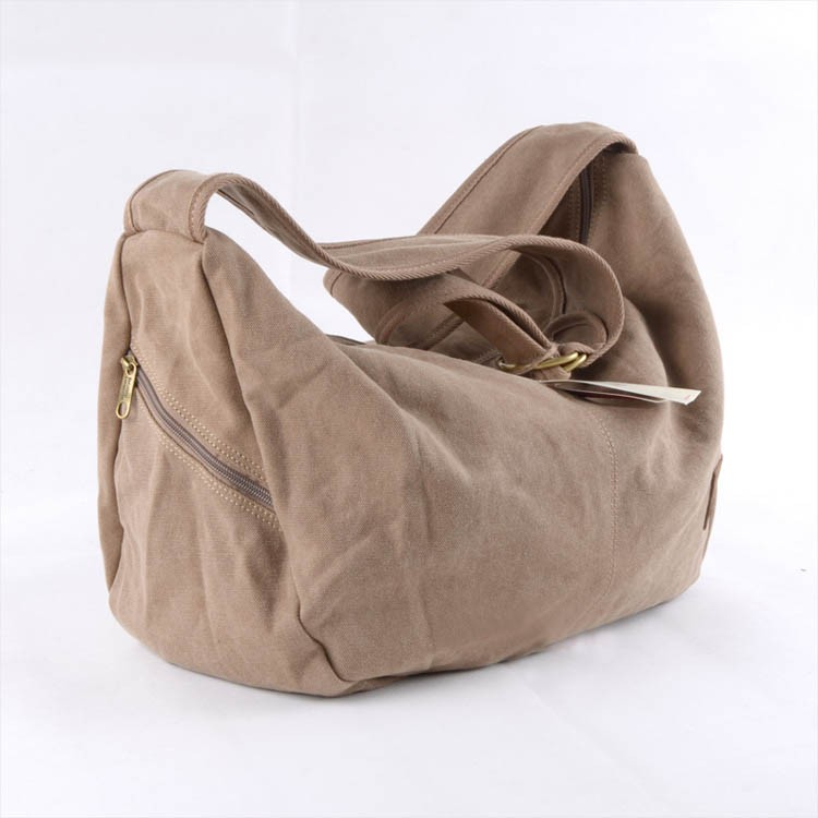 Classic elegant canvas bag, hobo bag, 3 colors - E-CanvasBags