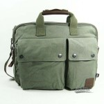 army green Canvas laptop bag